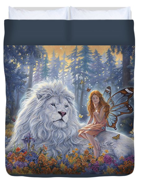 Star Birth Duvet Cover by Lucie Bilodeau