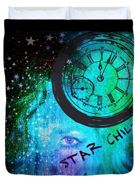 Star Child - Time To Go Home Duvet Cover