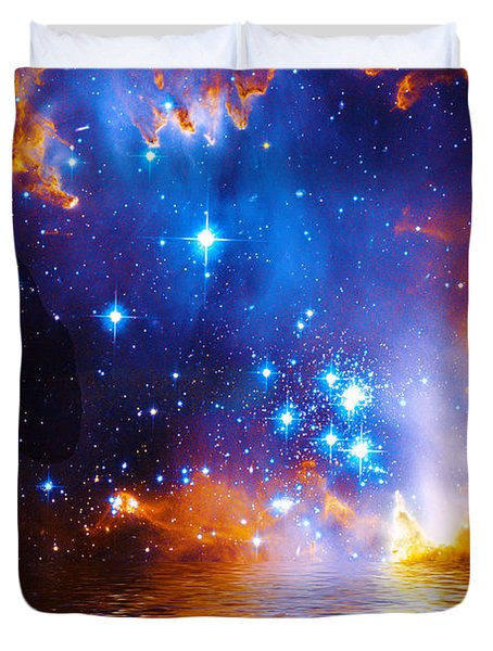 Stars As Diamonds Duvet Cover by Chuck Mountain