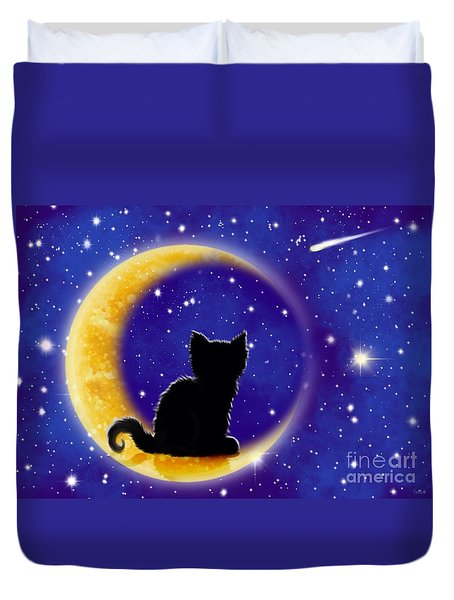 Star Gazing Cat Duvet Cover