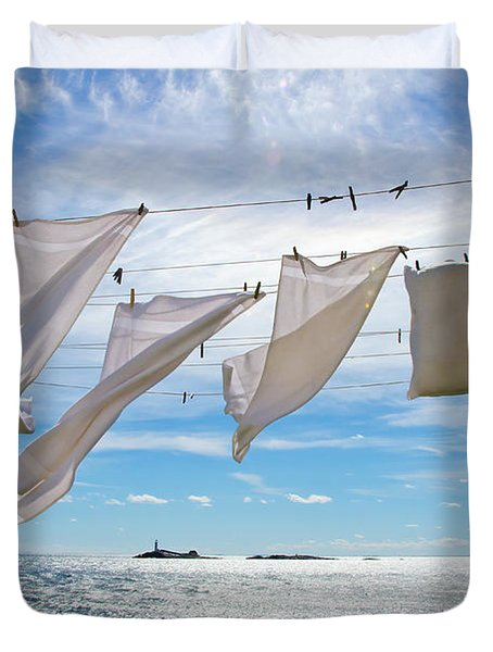 Star Island Clothesline Duvet Cover