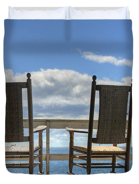 Star Island Rocking Chairs Duvet Cover