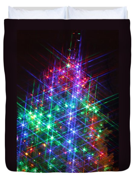 Star Like Christmas Lights Duvet Cover by Patrice Zinck