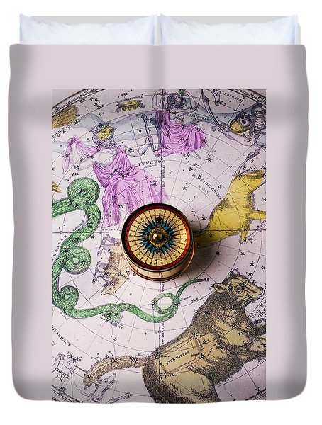 Star Map Duvet Cover by Garry Gay
