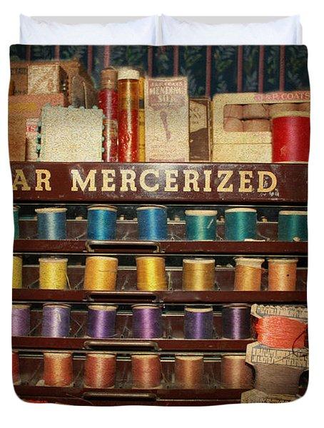 Star Mercerized Thread Display Duvet Cover by Janice Rae Pariza