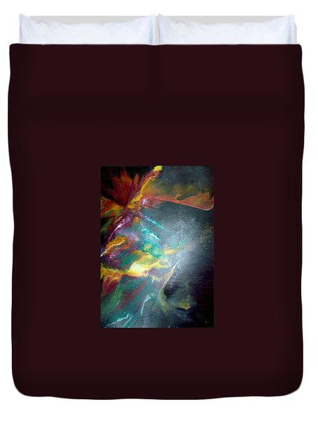 Star Nebula Duvet Cover by Carrie Maurer