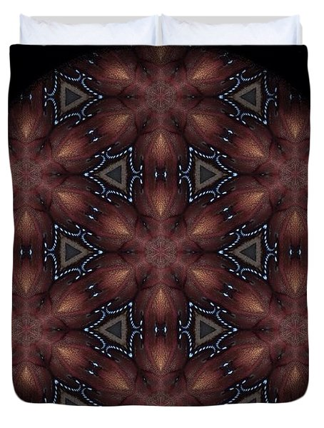 Star Octopus Mandala Duvet Cover by Karen Buford
