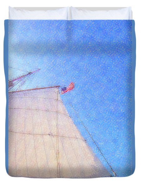 Star Of India. Flag And Sail Duvet Cover by Ben and Raisa Gertsberg