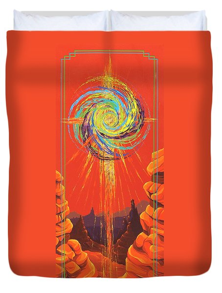 Star Of Splendor Duvet Cover