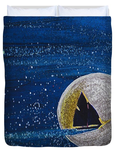 Star Sailing By Jrr Duvet Cover by First Star Art
