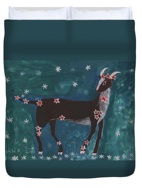Star Sign Capricorn Duvet Cover by Sushila Burgess