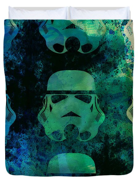 Star Warriors Watercolor 1 Duvet Cover