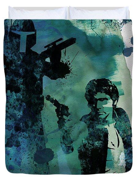 Star Warriors Watercolor 2 Duvet Cover