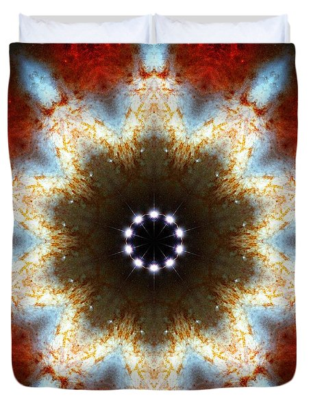 Starburst Galaxy M82 I Duvet Cover