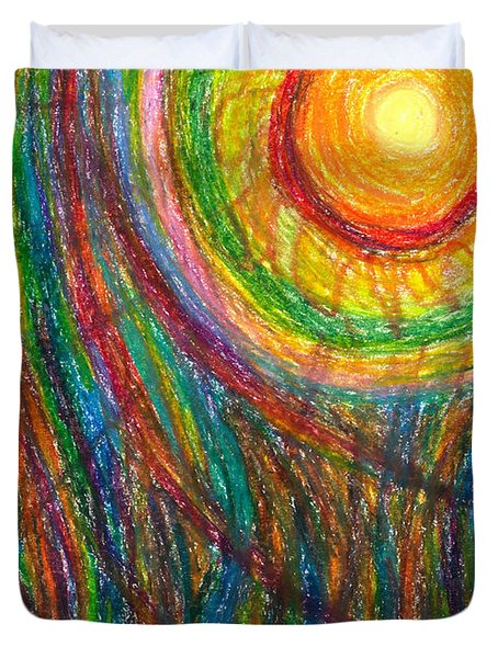 Starburst - The Nebular Dawning Of A New Myth And A New Age Duvet Cover by Daina White