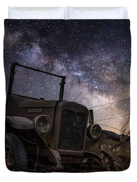 Stardust And  Rust Duvet Cover