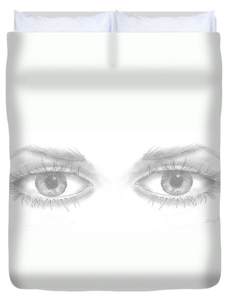 Stare Duvet Cover by Terry Frederick