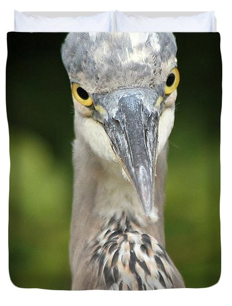 Staredown Duvet Cover by Heather King