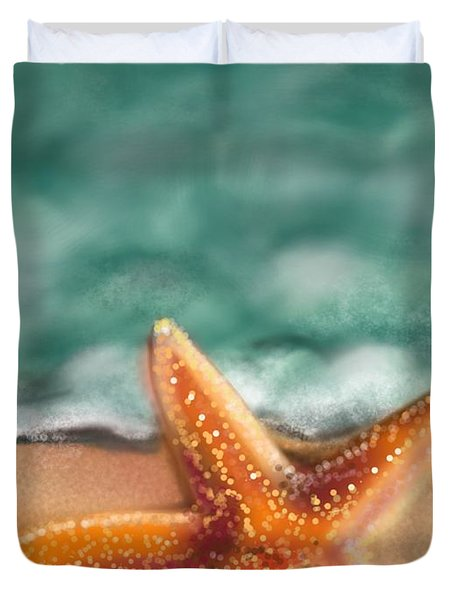Starfish  Duvet Cover by Christine Fournier