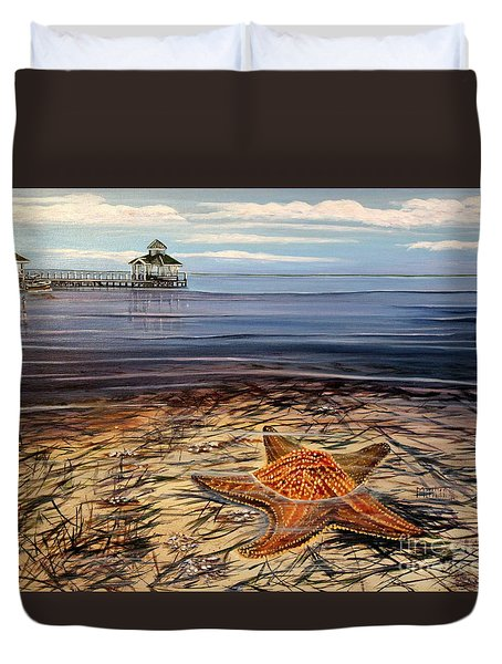 Starfish Drifting Duvet Cover