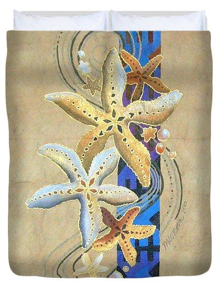 Starfish On Blue Masi Duvet Cover