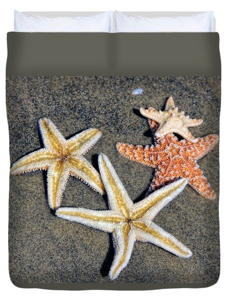 Starfish Duvet Cover by Tammy Espino
