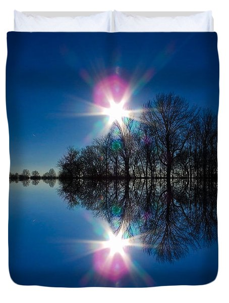 Starflection Duvet Cover by Nick Kirby