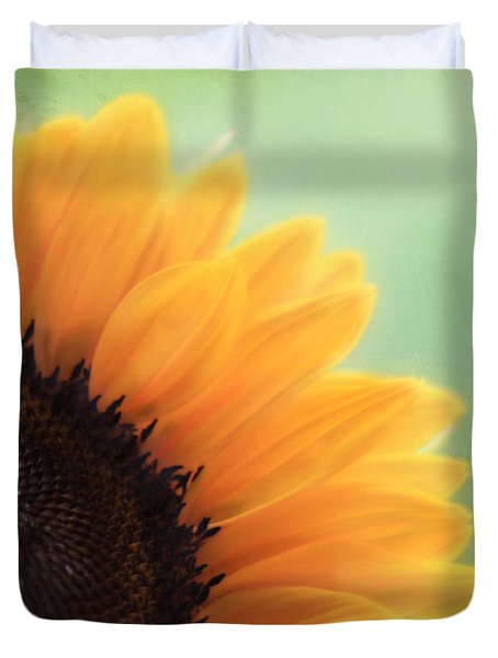 Staring Into The Sun Duvet Cover by Amy Tyler