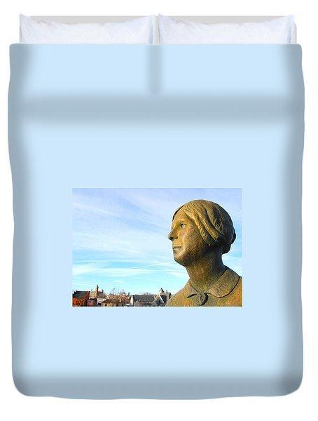 Staring Statue Duvet Cover