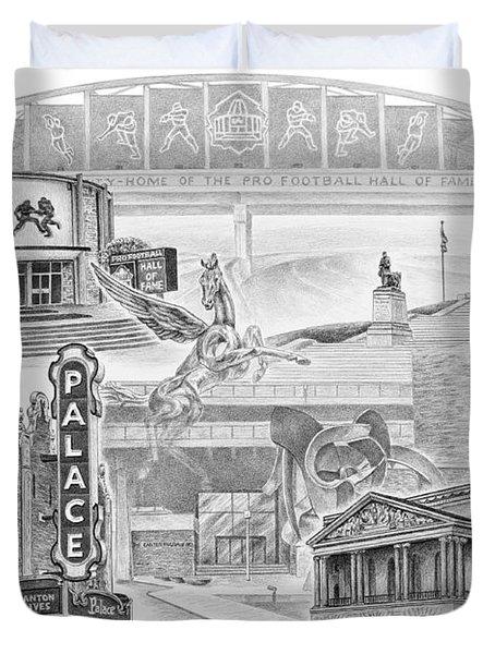 Stark County Ohio Print - Canton Lives Duvet Cover