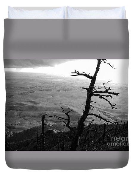 Stark Tree Duvet Cover by Mary Carol Story