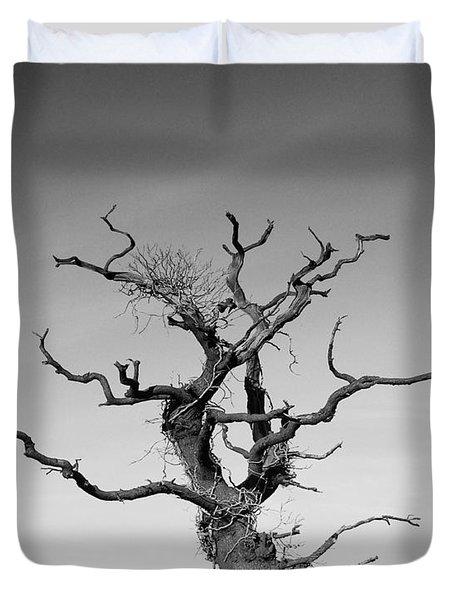 Stark Tree Duvet Cover by Pixel Chimp