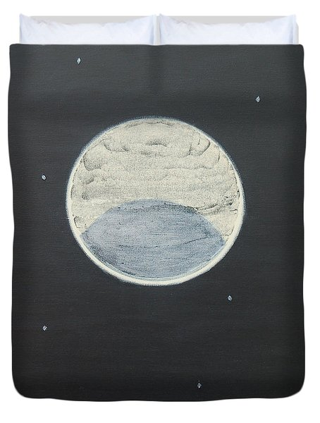 Duvet Cover featuring the painting Starlight by Mini Arora