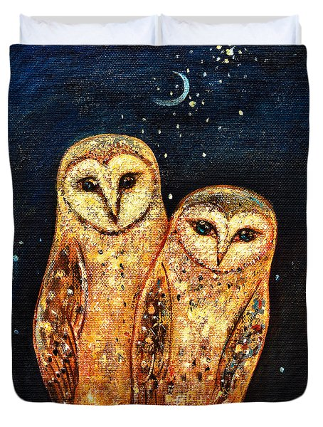 Starlight Owls Duvet Cover