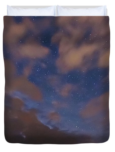 Duvet Cover featuring the photograph Starlight Skyscape by Marty Saccone