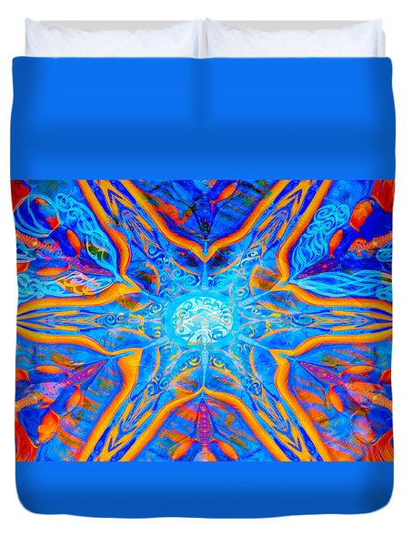 Duvet Cover featuring the photograph Starphysh by Adria Trail