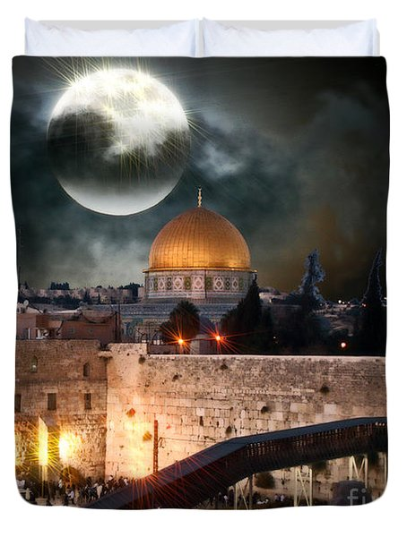 Full Moon Israel Duvet Cover