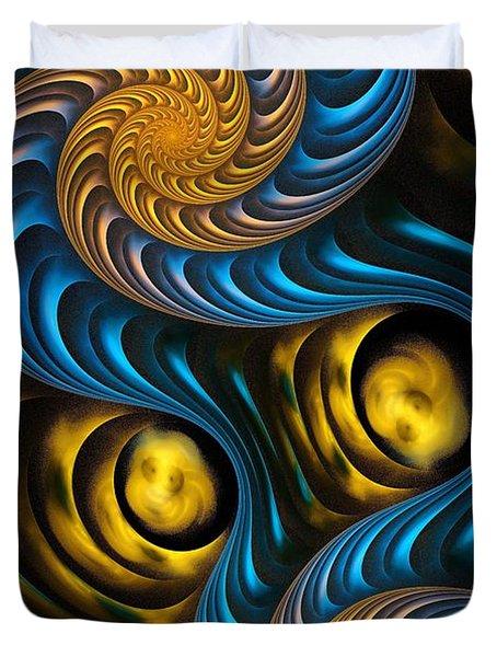 Starry Night - Fractal Art Duvet Cover by Anastasiya Malakhova