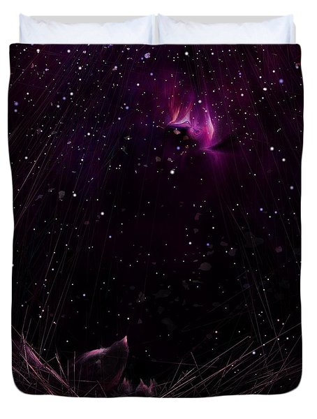 Starry Starry Night Duvet Cover by Rachel Christine Nowicki