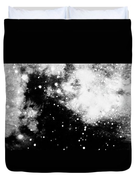 Stars And Cloud-like Forms In A Night Sky Duvet Cover