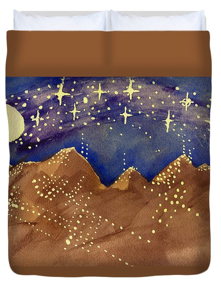 Stars Of Heaven And Earth Duvet Cover