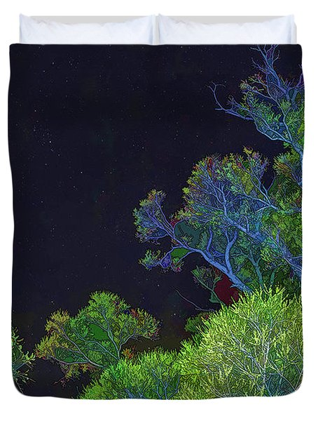 Duvet Cover featuring the photograph Stars Shine Above by Nancy Marie Ricketts