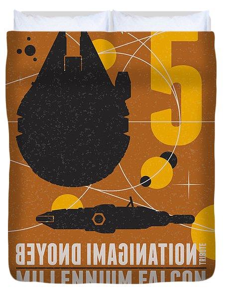 Starschips 05-poststamp -star Wars Duvet Cover by Chungkong Art