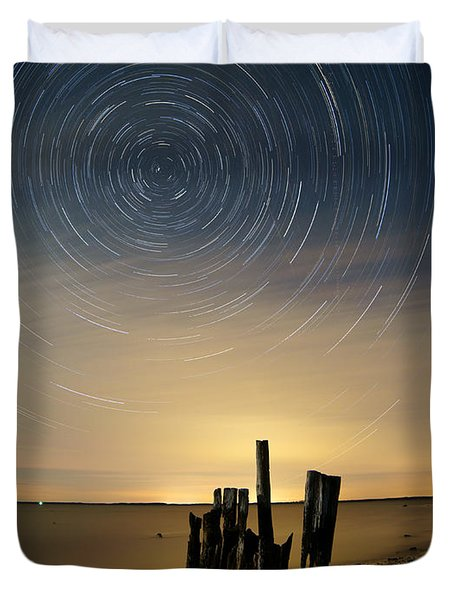 Startrails 2 Duvet Cover by Benjamin Reed