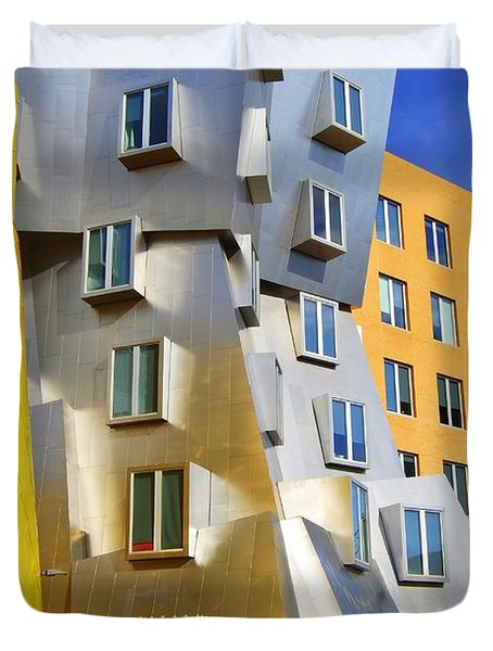 Duvet Cover featuring the photograph Stata Building At M I T by Caroline Stella