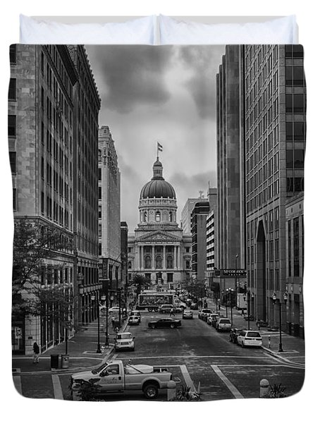 Duvet Cover featuring the photograph State Capitol Building by Howard Salmon