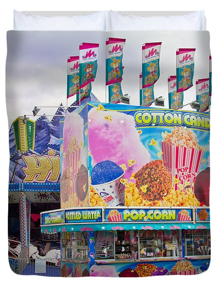 Duvet Cover featuring the photograph State Fair by Steven Bateson