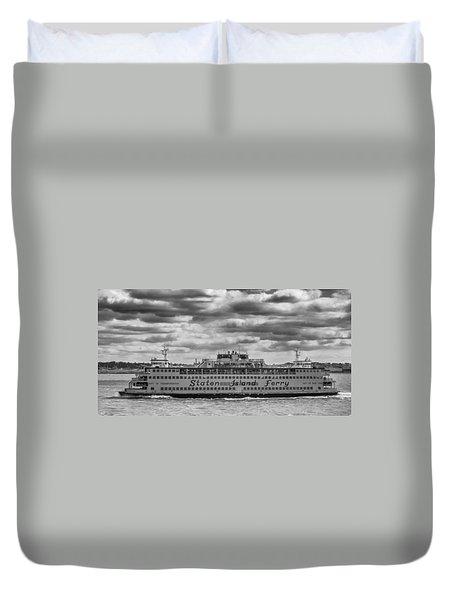 Staten Island Ferry 10484 Duvet Cover