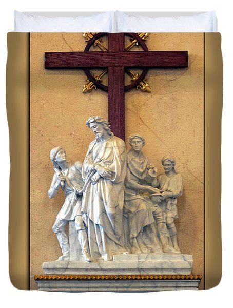 Station Of The Cross 01 Duvet Cover by Thomas Woolworth