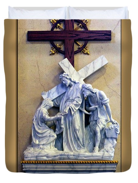 Station Of The Cross 06 Duvet Cover by Thomas Woolworth